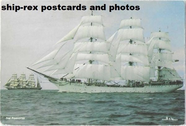 DAR POMORZA (sail training ship) postcard (c)